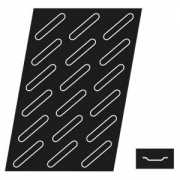 Форма конд. «Эклер» [18шт]; силикон; H=5,L=600,B=400мм