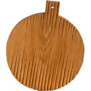 Доска для подачи круглая с ручкой «Мороз» светлый дуб