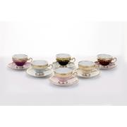 Набор кофейный на 6 перс. 12 пред. 160 мл. подарочный «Ювел Калорс»