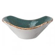 Соусник-салатник «Крафт», фарфор, 40мл, H=30,L=90,B=72мм, синий