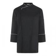 Куртка поварская с окант.44 р.на кнопках, полиэстер,хлопок, антрацит