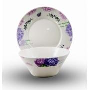Набор: тарелка + салатник «Гортензия»