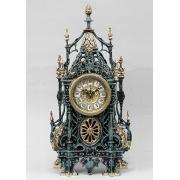 Часы «с ландышами» цвет - синий 46х24см