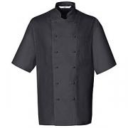 Куртка поварская,р.52 без пуклей, полиэстер,хлопок, черный