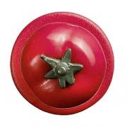 Пукли «Томат» [12шт], пластик, красный,зелен.