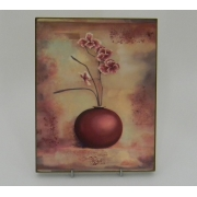Картина без рамки «Орхидея в круглой вазе» 25*20