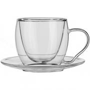 Чашка кофейная двойные стенки «Проотель» термост. стекло; 100мл