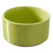 Форма для запек., фарфор, 60мл, D=65,H=35мм, зелен.