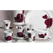 Сервиз чайный 17пр. на 6 персон «Черная роза»