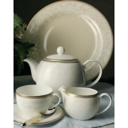 Набор 6 тарелок 16см «Золотая вышивка»