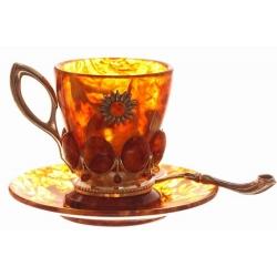 Кофейный набор «Солнышко» на 4 персоны c конфетницей
