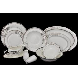 Обеденный сервиз «Серебряные узоры» 27 предметов на 6 персон