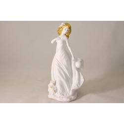 Статуэтка «Дама в платье с цветами» 26 см