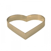 Форма конд. «Сердце», сталь нерж., D=160,H=35мм