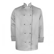Куртка двубортная с окант. 42разм., твил, серый,черный