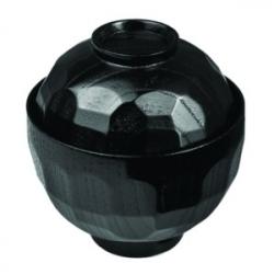 Мисосупница с крыш. пластик; 170мл; D=12.5,H=11.5см; черный,красный