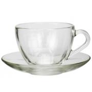 Пара чайная 235 мл прозрачная