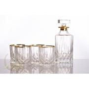 Набор 6 высоких стаканов 240мл «Опера» с золотом