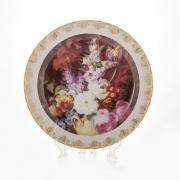 Настенная тарелка 32 см «Цветы 6»