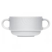 Бульон.чашка «Карат», фарфор, 200мл, D=9,H=6,L=14см, белый