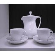 Сервиз кофейный на 6 персон «Белый жемчуг» (17 предметов)