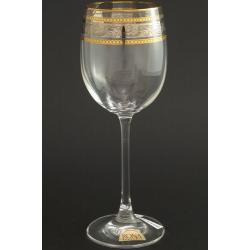 Рюмка для вина Эсприт производство Рона оптика панто декор комбинация платины и золота +золотая кайма по краю рюмки