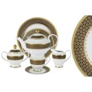 Чайный сервиз Чёрное золото 42 предмета на 12 персон