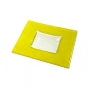 Тарелка квадр «Бордер» 13*13см желтая