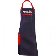 Фартук «Монин» джинс, кожа; красный