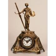 Часы «с 2-мя амурами» цвет - золото 28х24см
