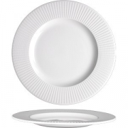 Тарелка мелкая «Уиллоу» D=27см; белый