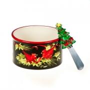Салатник со шпателем 13см «Винтаж Новогодний»
