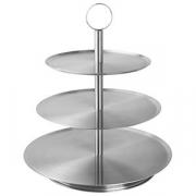 Этажерка 3-х ярусная для десерта «Проотель» d=21,26,31см, сталь, H=36см, металлич.