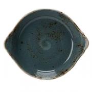 Блюдо для запек. «Крафт»; фарфор; D=18.5см; синий