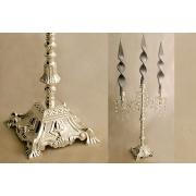 Подсвечник для 3-х свечей 42,5 см «Палаццо серебро»