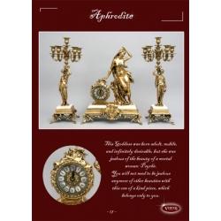 Часы на мраморе «Афродита» золото 52х43 см.