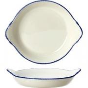 Блюдо для запекания «Блю дэппл» D=19см; белый, синий