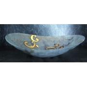 F/725/128 блюдо декоративное «Диора» 46*37см (серебро)