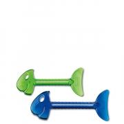 Зажим для тюбиков «РоллМопс» (ROLLMOPS) Koziol  2 шт (голубой)