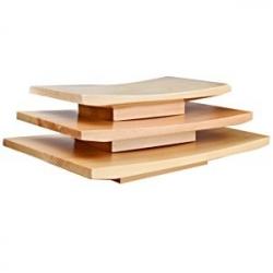 Блюдо для суши дерево; H=35,L=270,B=180мм; св. дерево