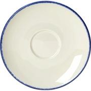 Блюдце «Блю дэппл» D=15, H=2см; белый, синий