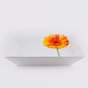 Салатник квадратный « Гербера» 25.4 см