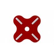 Подставка под горячее «Плюс» (Plus) Rosti Mepal 19,5 x 19,5 x 0,8см (красный)