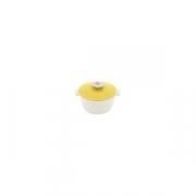 Кастрюля для сервировки с крышкой «Революшн» D=136, H=92мм; белый, желт.