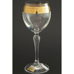 Рюмка для вина 200 мл «Люция» панто+широкое золото по всему декору