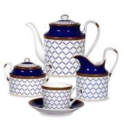 Сервиз чайный, 6 перс, 15 пр, Синяя птица
