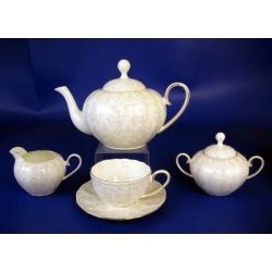 Н 1050011 Джулия ГРИН сервиз чайный 6/17 (зол.лента)