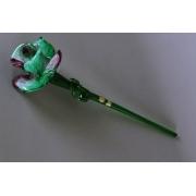 Цветок стеклянный разноцветный (зел + фиол)