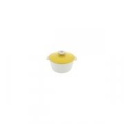 Кастрюля для сервировки с крышкой «Революшн» D=19, H=12.5см; белый, желт.