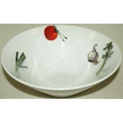Круглый салатник «Овощи» 24 см